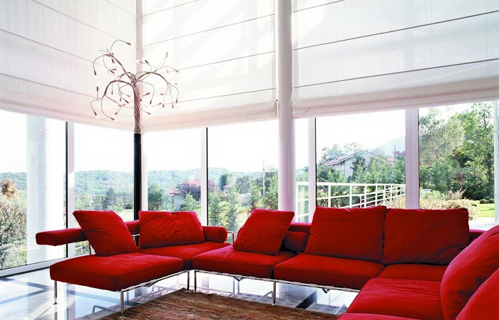 Contemporary roman blinds