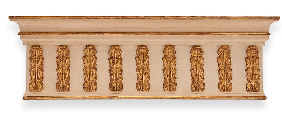 Paintable custom made wooden pelmet