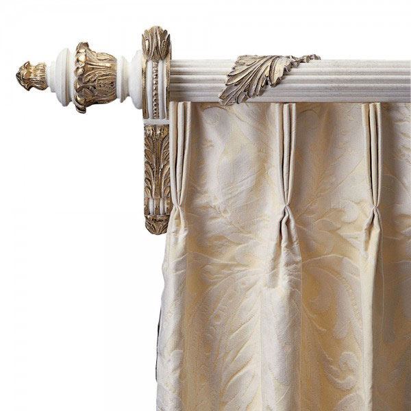 Made to measure reeded curtain poles