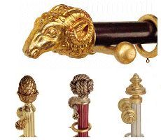 Hand-crafted curtain poles